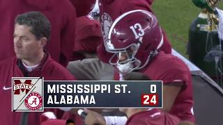 Alabama Shuts Out Mississippi State 24 To 0 Highights As Called By Eli Gold