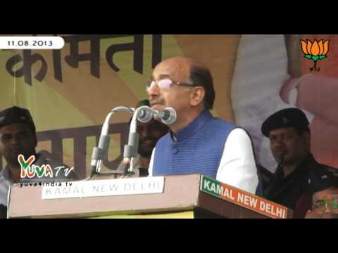 Shri Vijay Goel speech during Bijli Andolan in Ramlila Maidan: 11.08.2013