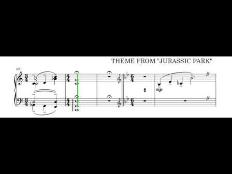 Jurassic Park Piano Solo Played by Dorico Software