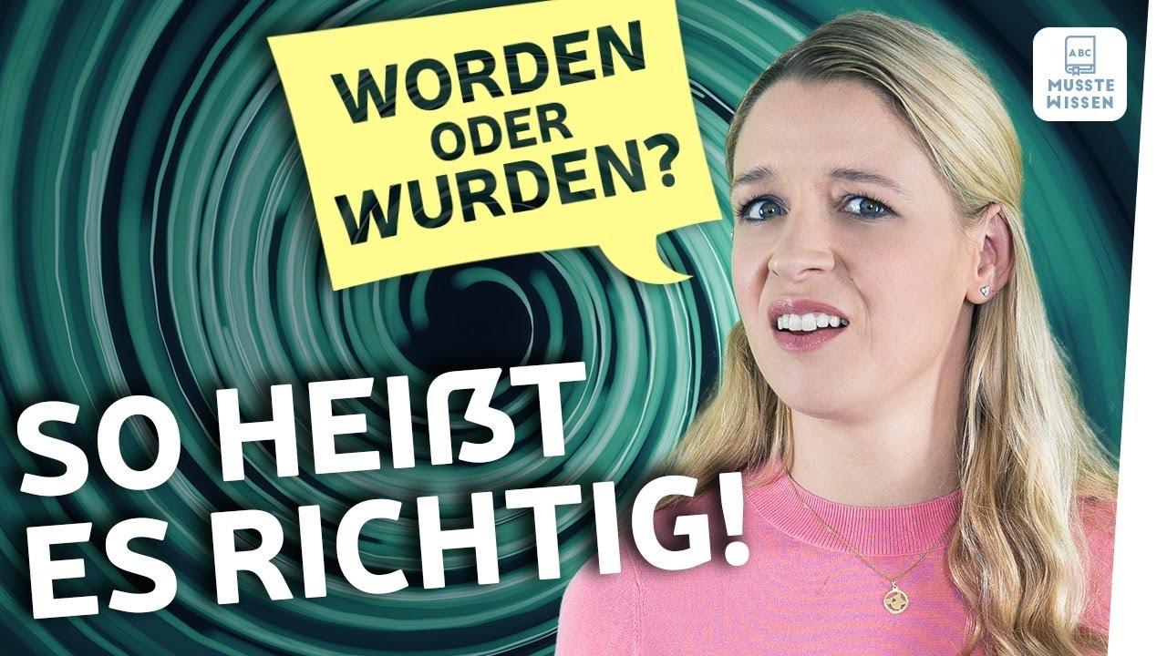 Download worden oder wurden? | Deutsche Grammatik einfach erklärt