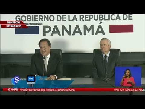 Conferencia de prensa por parte del presidente Juan Carlos Varela