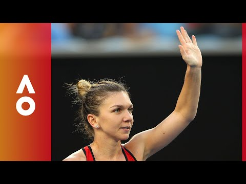 Simona Halep celebrates after an epic victory over Lauren Davis (3R) | Australian Open 2018