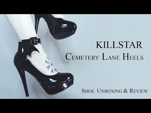 KILLSTAR CEMETERY LANE HEELS || Shoe Unboxing & Review - ReeRee Phillips