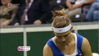 Lucie Šafářová vs Jelena Jankovic Fed Cup 2012, Česko - Srbsko