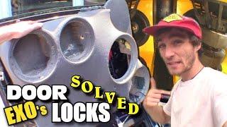 Chillin' with EXO: Custom Door Panels REMOVED... Fixing JAMMED Power Locks & Car Audio Updates