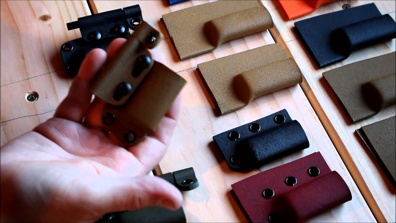 forming kydex with heat gun