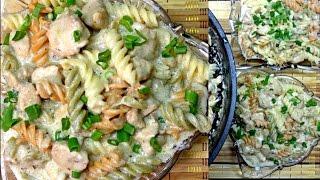 Rainbow Chicken Noodles - Chicken Pasta Recipe - White Sauce Pasta