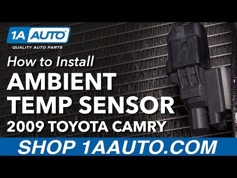 How to Install Replace Ambient Temperature Sensor 2009 Toyota Camry
