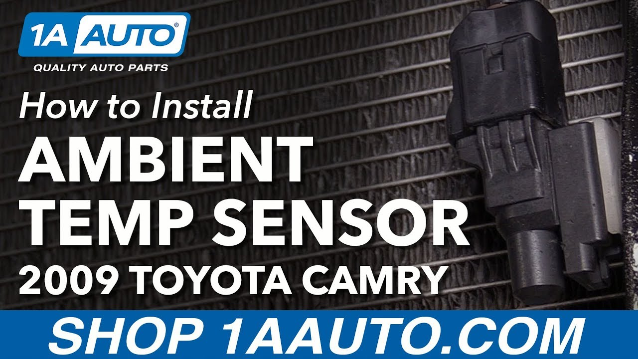 how to replace ambient outside temperature sensor 06 11 toyota camry [ 1280 x 720 Pixel ]