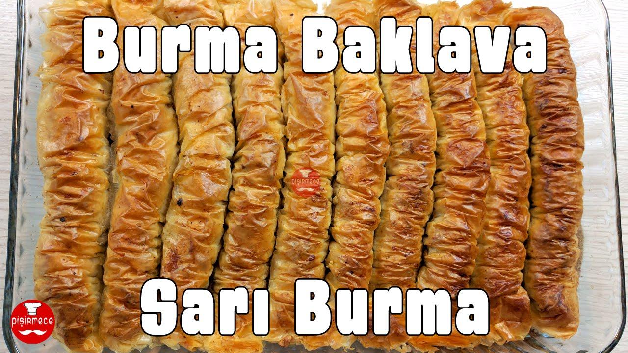 Baklava Yufkasıyla Burma Tatlı Videosu
