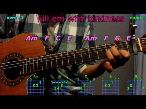 kill em with kindness selena gomez guitar chords