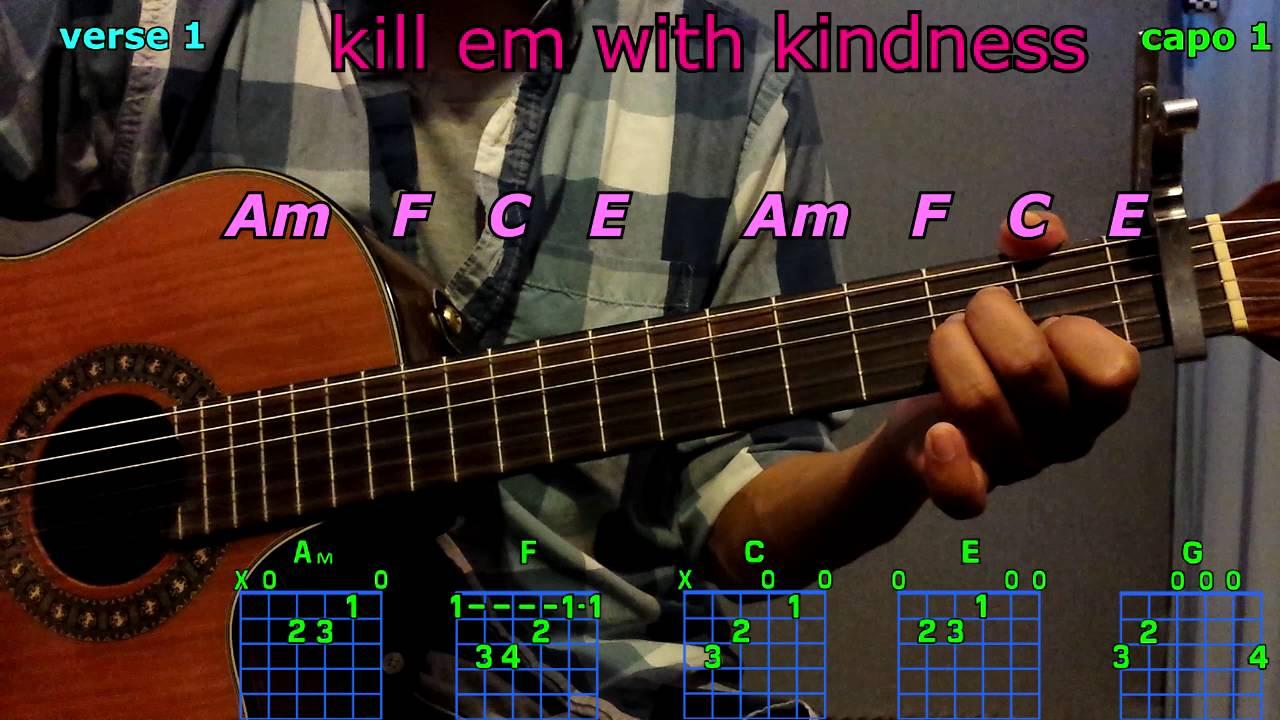 Kill em with kindness selena gomez guitar chords youtube kill em with kindness selena gomez guitar chords hexwebz Choice Image