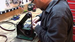Sharpening Broadheads And Knives On A Belt Sander