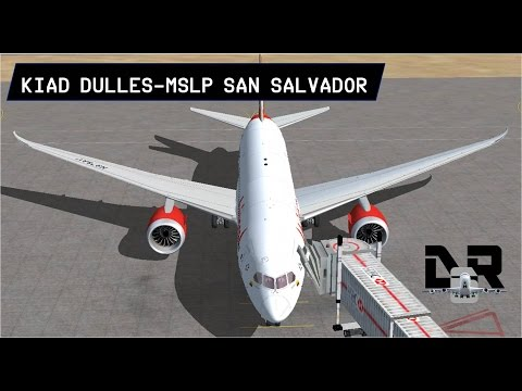 KIAD Dulles to MSLP San Salvador on the 787.