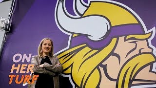 Vikings' Anne Doepner on why she embraces being a woman in football I On Her Turf I NBC Sports thumbnail
