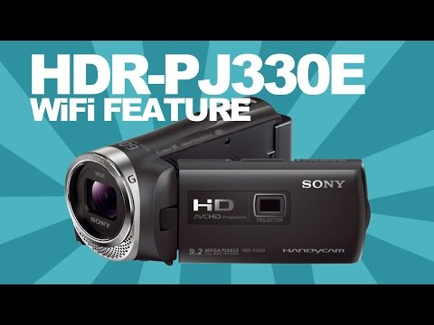 Sony HDR-PJ330E Camcorder WiFi function explained! Remote control your camera using your smartphone!