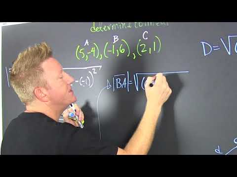 Determine if 3 points are collinear using the distance formula