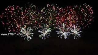 Synchronized Fireworks with Bromance by Avicii (made with FWsim)