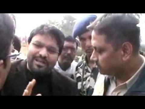 Union minister Babul Supriyo stopped by...