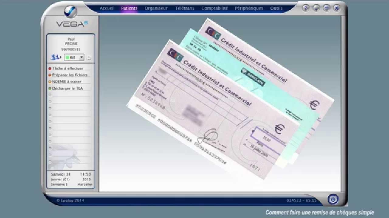 Remplir une remise de cheque la poste
