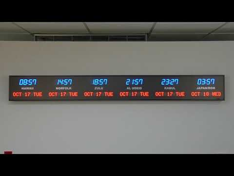 BRG Precision Product's 6637E-B18R - 6 Zone, Fixed Zone, Time Zone Clock Display
