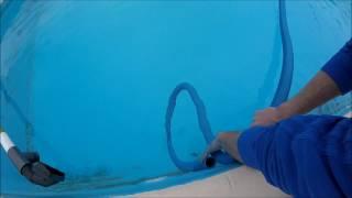 Как правильно подключить длинный шланг к пылесосу в бассейне/ Без пузырьков/