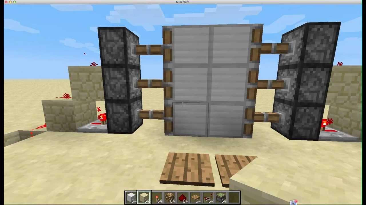 как сделать раздвижную дверь в майнкрафт #5