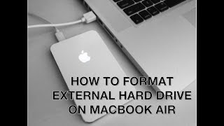 How to format external hard drive on Mac, MacBookAir