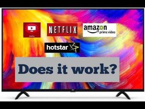Mi TV 55 inch  run Jio TV, Netflix, Airtel Tv, 4K HDR videos and more