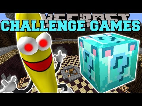 Minecraft: I'M A BANANA CHALLENGE GAMES - Lucky Block Mod - Modded Mini-Game