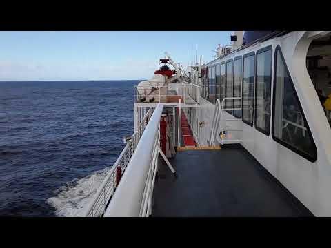 Alaska Marine Highway Columbia Ferry open water crossing.