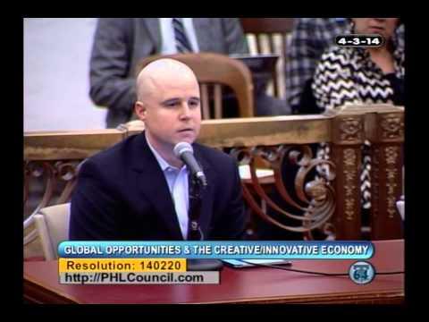 April 3, 2014: Hearing on the Tech & Innovation Community's Impact on Philadelphia's Economy