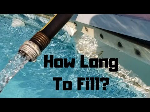 How Long Does It Take To Fill A Swimming Pool?