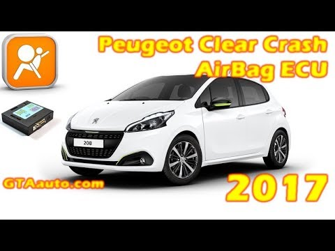 How to Reset AirBag CRASH ECU peugeot 208 2017 clear the crash data 100%  working