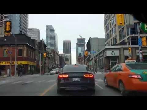 TORONTO TIMELAPSE, DRIVING ON YONGE STREET