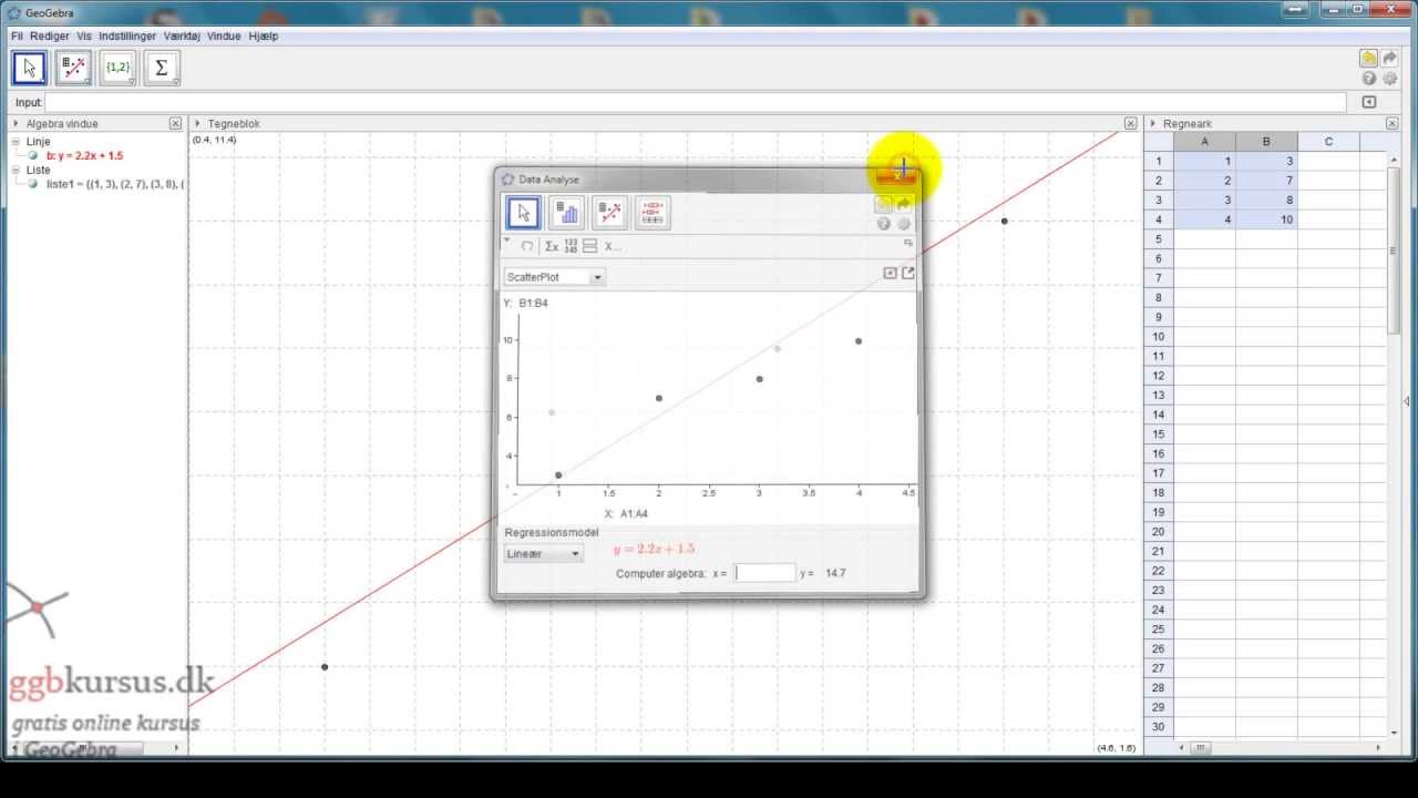 Sådan laves en regressionsanalyse