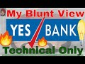 Yes Bank Share & share price Blunt View 🔥🔥 Only Technical #StockMarket #YesBank Fall was told