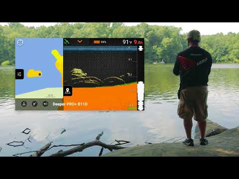 Mapping from the shore with Deeper PRO+