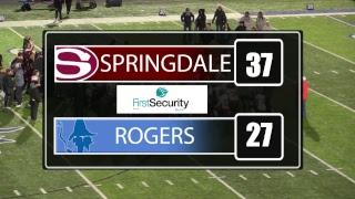 Springdale Bulldog Football   at Rogers High School