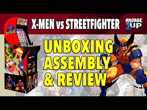 Arcade1up : X-Men vs. Streetfighter Unboxing, Assembly, and Review ! from sideshowsito