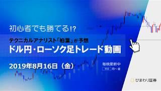 売れるタイミングが来た【190816ドル円・ローソク足トレード動画】FX予想
