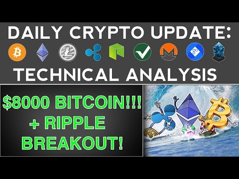 $8000 BITCOIN & RIPPLE BREAKOUT (11/16/17) Daily Crypto Update + Technical Analysis