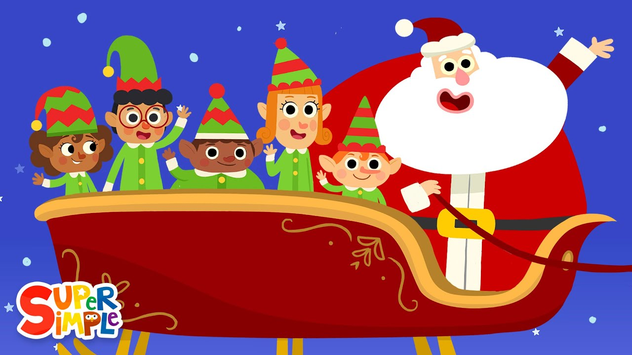 Five Little Elves | Christmas Song For Kids | Super Simple Songs