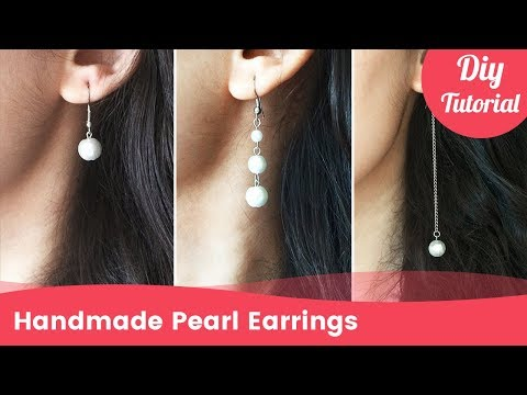 How to Make Pearl Earrings in 3 Minutes. DIY Craft Ideas.