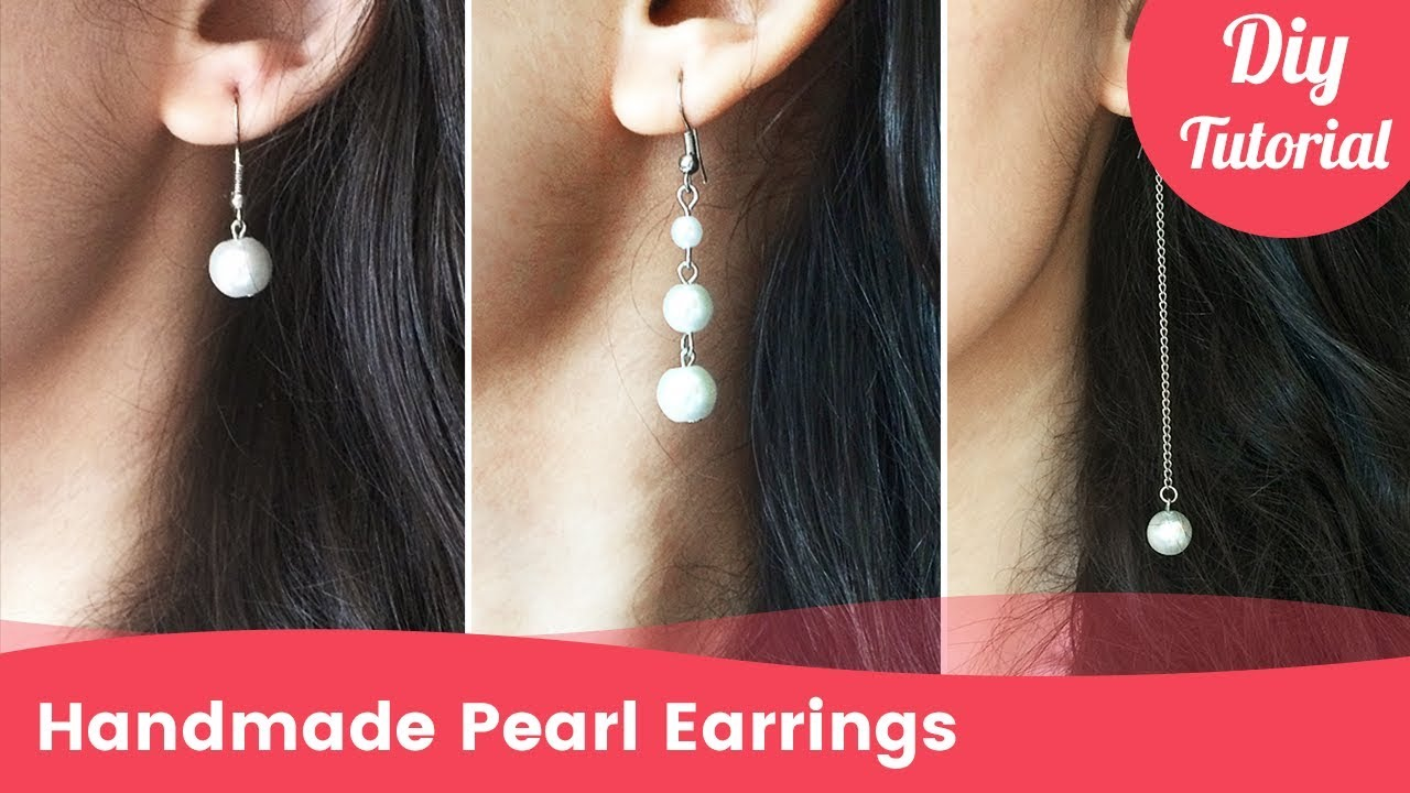 How To Make Pearl Earrings In 3 Minutes Diy Craft Ideas