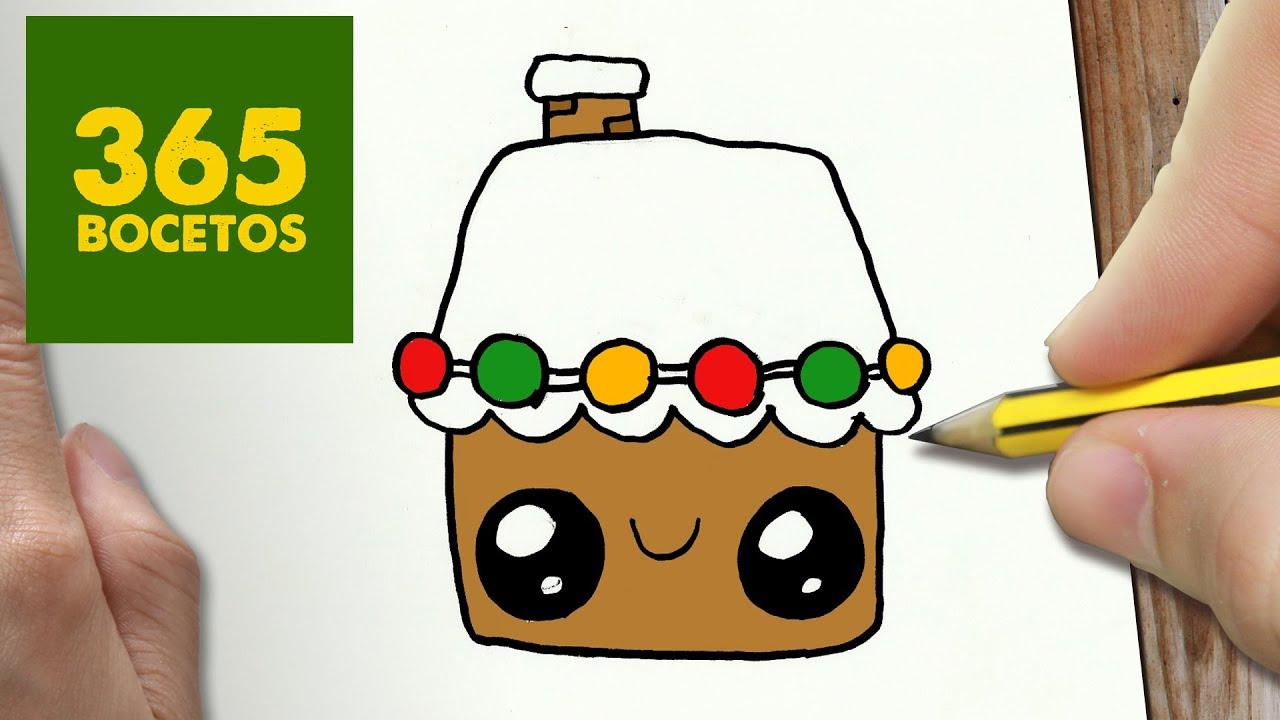 Como dibujar un casa para navidad paso a paso dibujos for Casas para dibujar