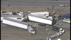 Massive pileup of vehicles on I-10 near Beaumont, TX