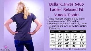 Bella+Canvas 6405 Ladies