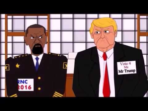 Donald trump vs Clinton Cartoon :-) ! :-)!