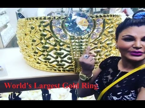 Rakhi Sawant World s st Gold Ring 65kg in Dubai